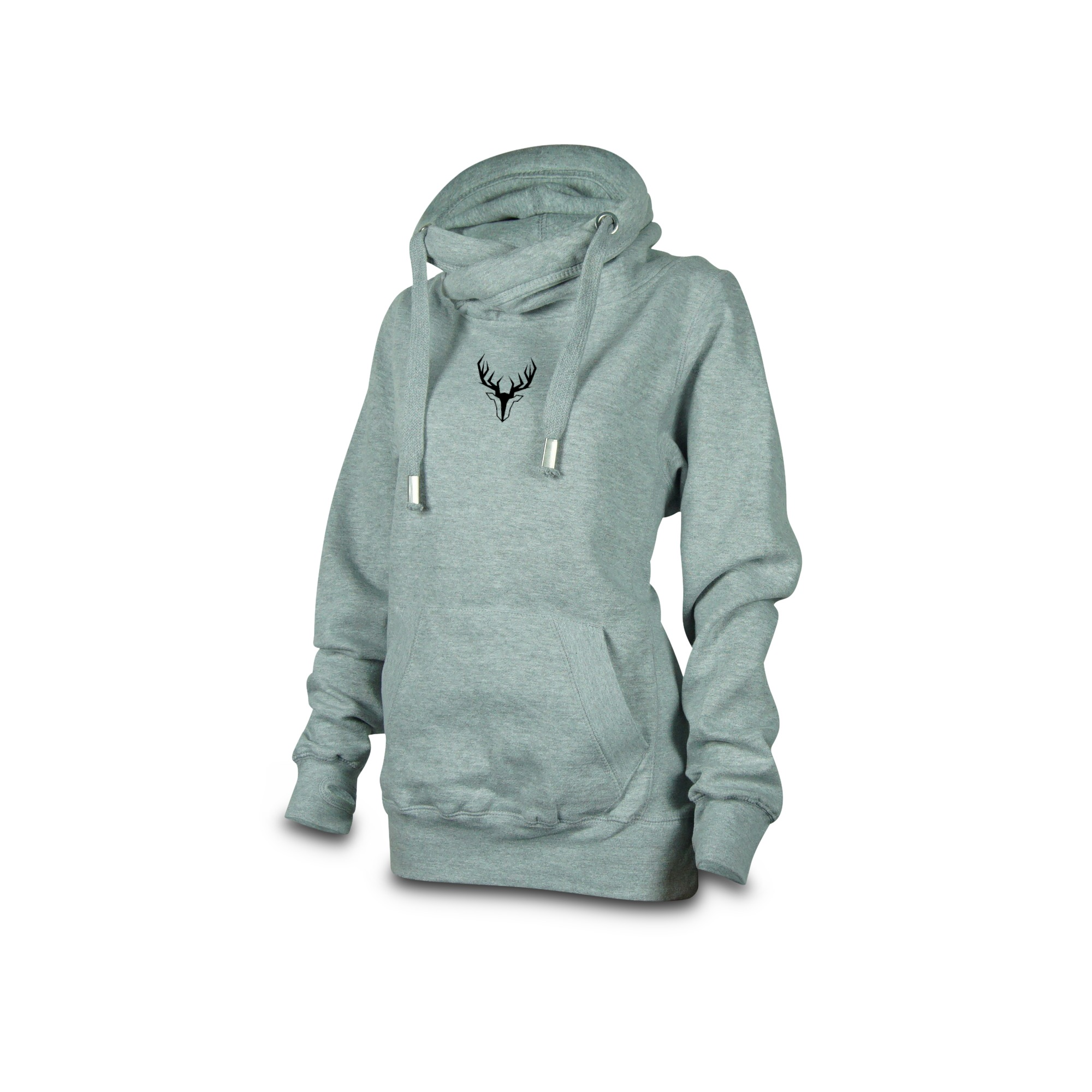 cross_neck_hoodie_damen_grau_hirsch_klein