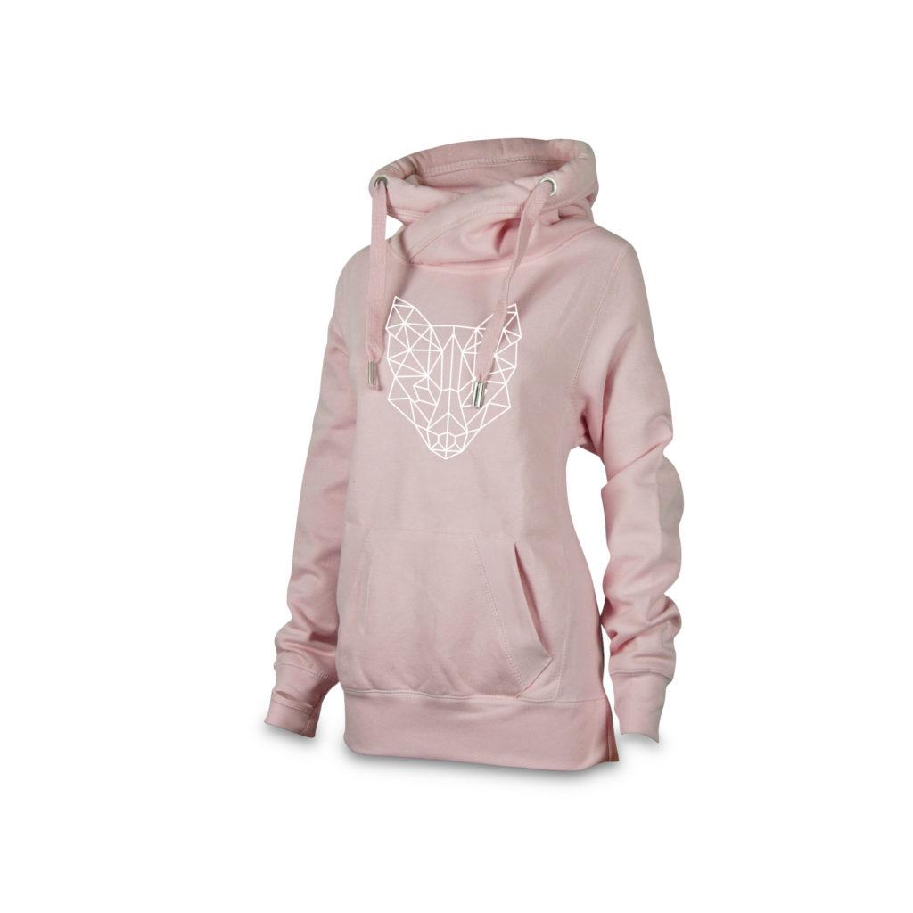 crossneck_hoodie_damen_pink_fuchs_vorne